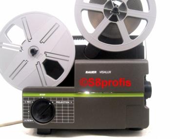 Bauer Visalux Super 8 projector, var.speed for filmtransfer