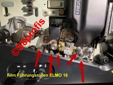 Film Führungsrollen, Ersatzrollen, Filmrollen, Rollen f. Elmo  16-CL / Elmo 16-AL