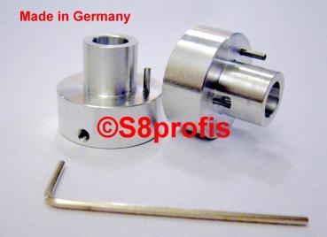 2 X Hochwertige  Super 8 auf16mm Adapter Vollmetalladapter für Umroller