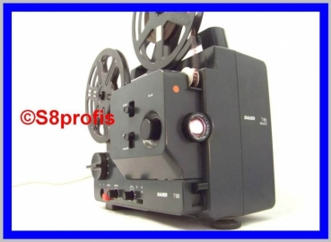 Super 8  Normal 8 Tonfilmprojektor,Bauer T180  Multiformat